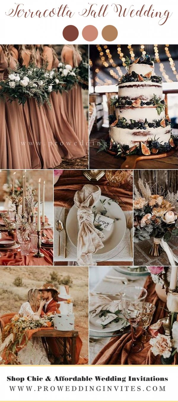 Terracotta fall wedding colors