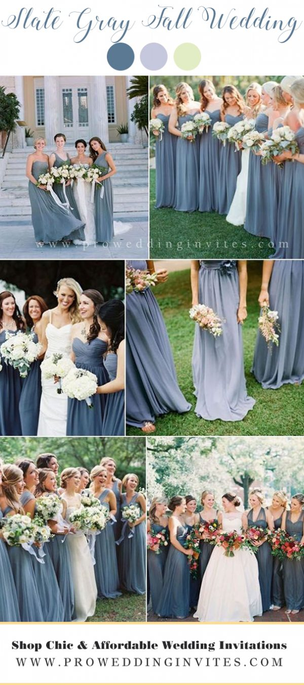 Slate Gray blue wedding colors