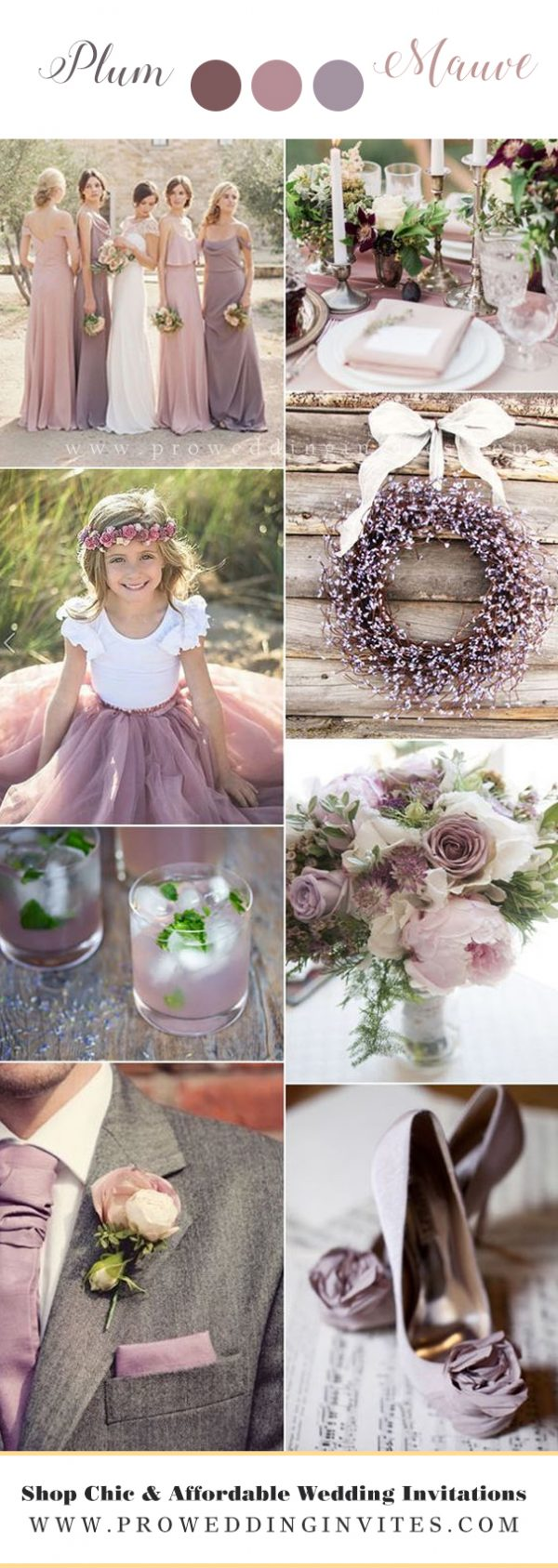 Plum & Mauve wedding colors