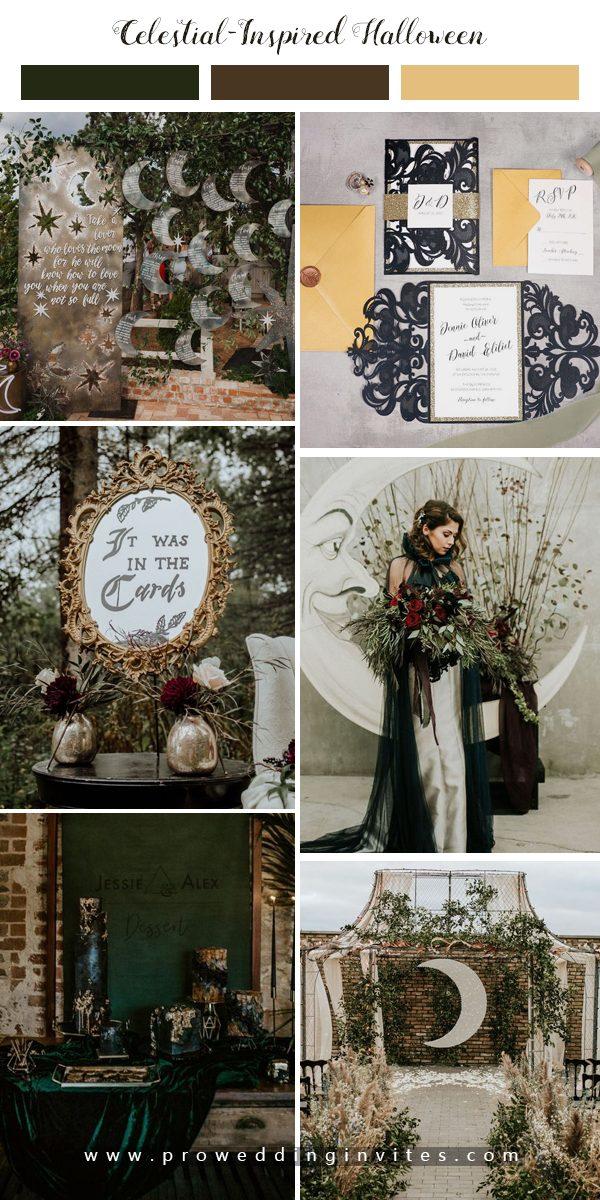 Subtly Spooky Halloween Wedding Ideas: A Celestial-Inspired Wedding at Terrain Gardens
