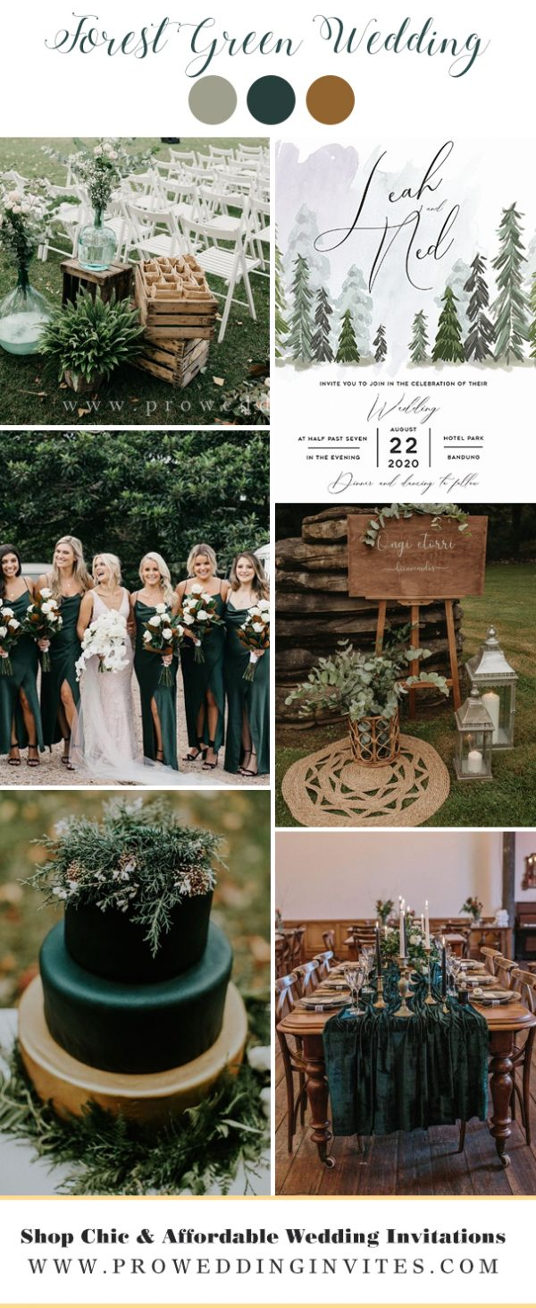 Forest Green wedding colors