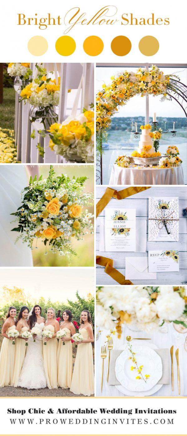 Yellow iris and green wedding inspirations for 2021 wedding