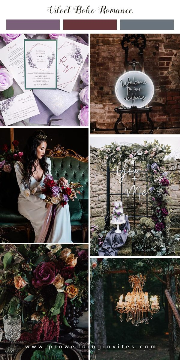 Grey, Marble and Violet: New Halloween Wedding Inspiration