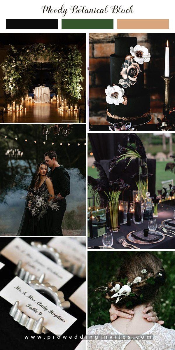 Moody Botanical Halloweem Wedding Inspiration