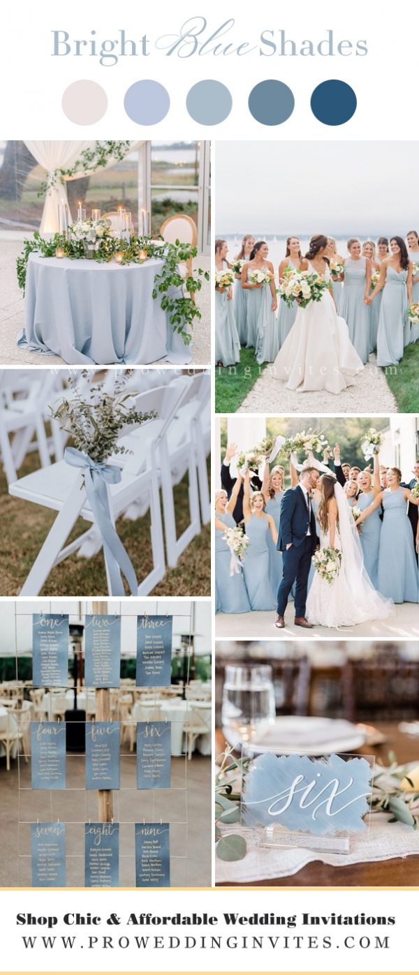 Lighter Shades of BLUE wedding