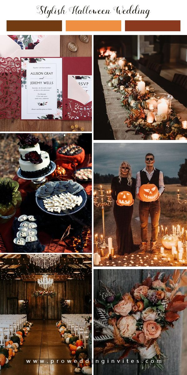 A spooky, romantic wedding filled with creative details.