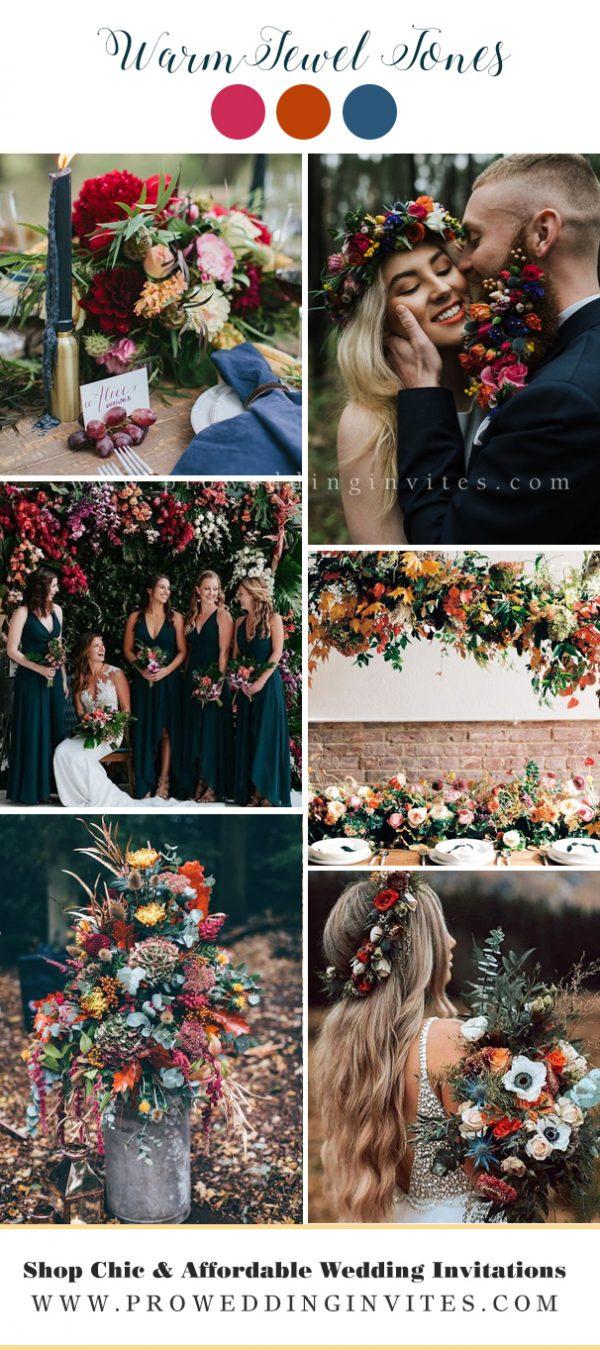 Warm jewel tones wedding