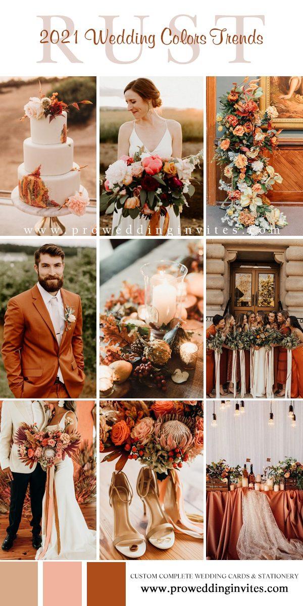 Rust, Merigold, Coral, Blush Rust Wedding Palette