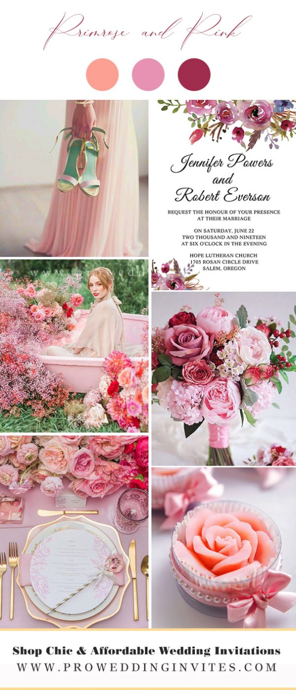 Primrose and Pink Wedding Colors for Spring 2021