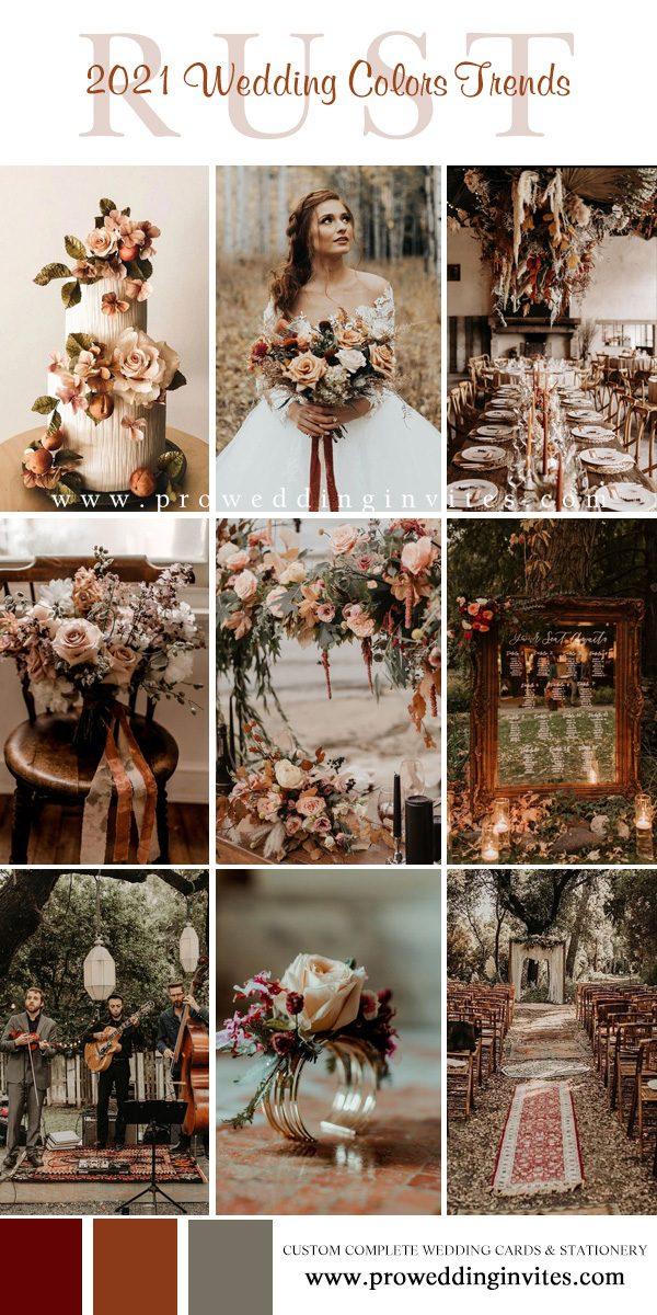Earthy Rustic Autumnal Tones for Your Wedding