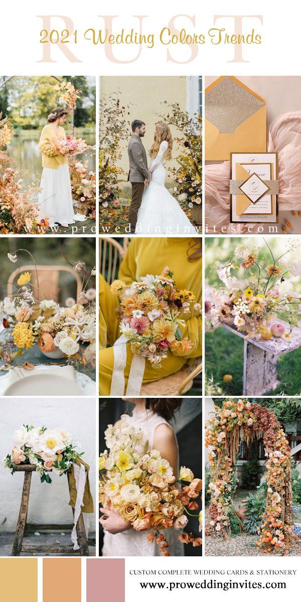 Rust, Bumblebee, Blush, Fern, Daffodil Rustic Wedding