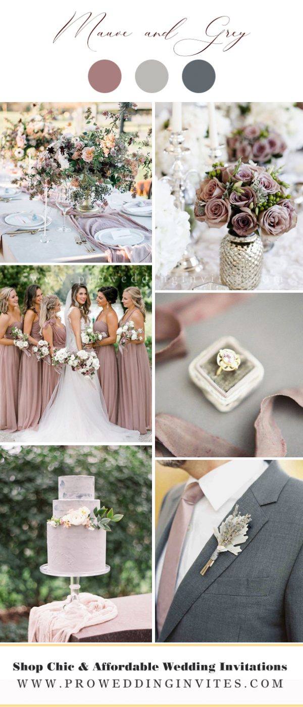 Mauve and Grey Wedding Colors
