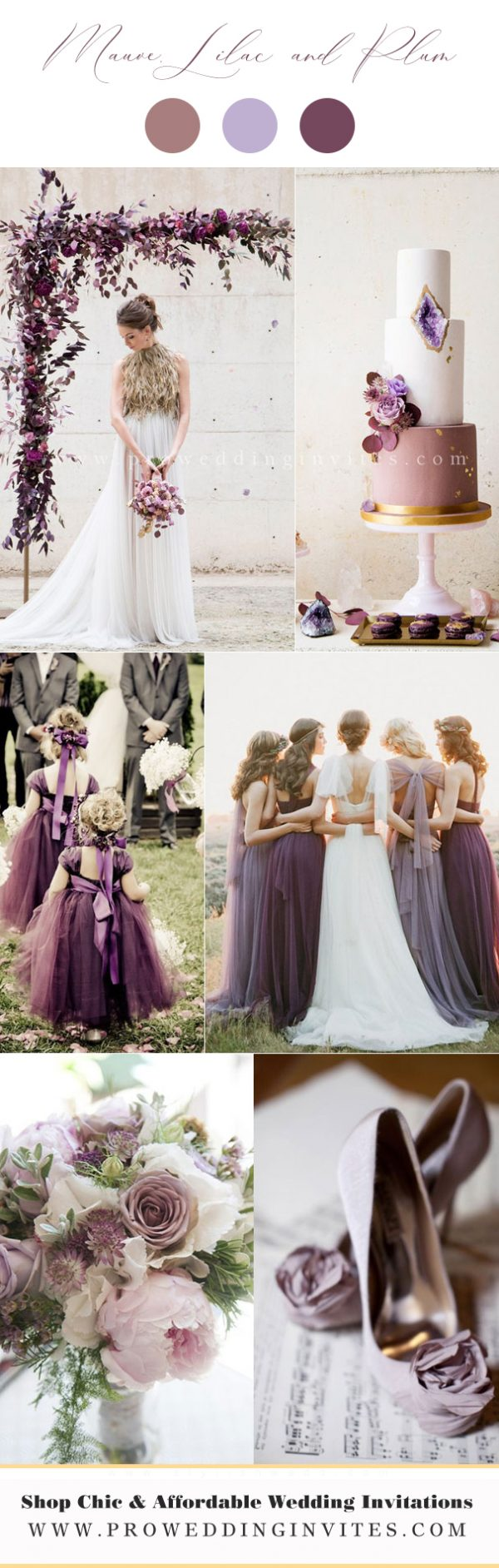 Mauve, Lilac and Plum Wedding Colors
