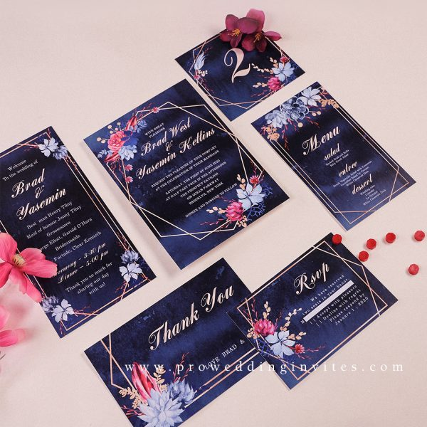 Floral wedding invitations with pops of color and a hint of vintage romance are going to be hot for the coming year!