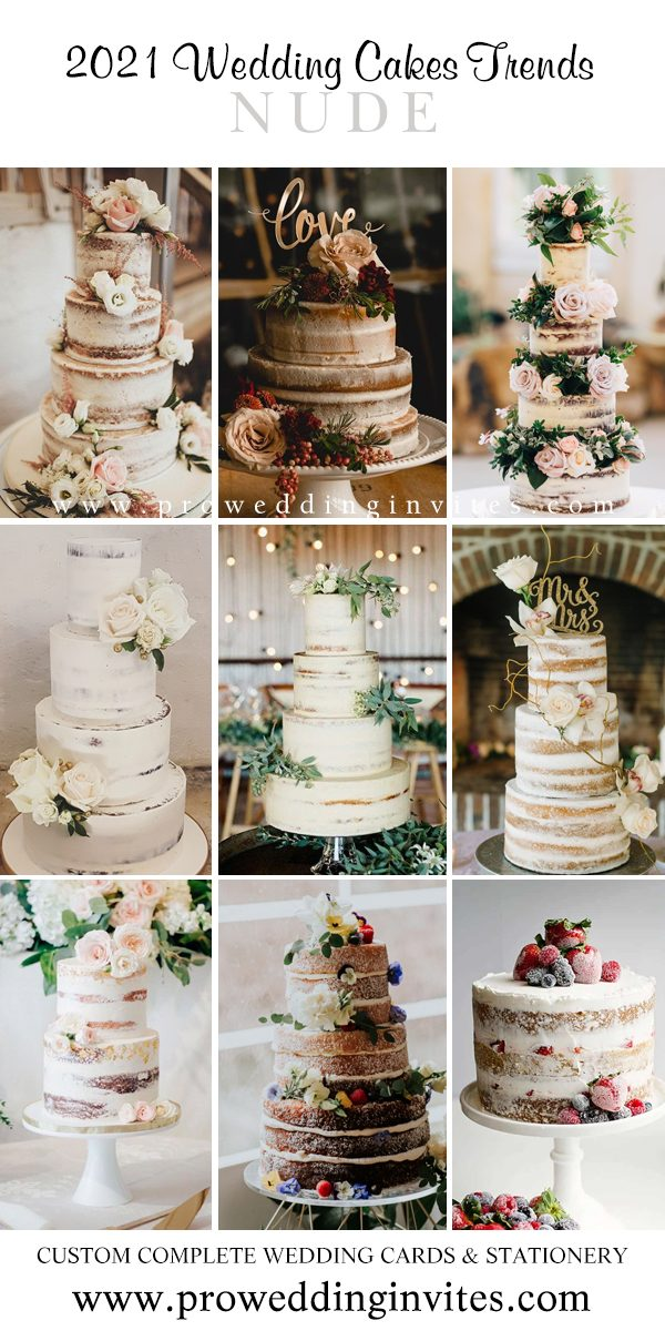 2021 Wedding Trend: Choosing a Naked Cake for Your Big Day