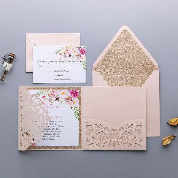 Primrose and Pink Wedding Invites for Spring 2021