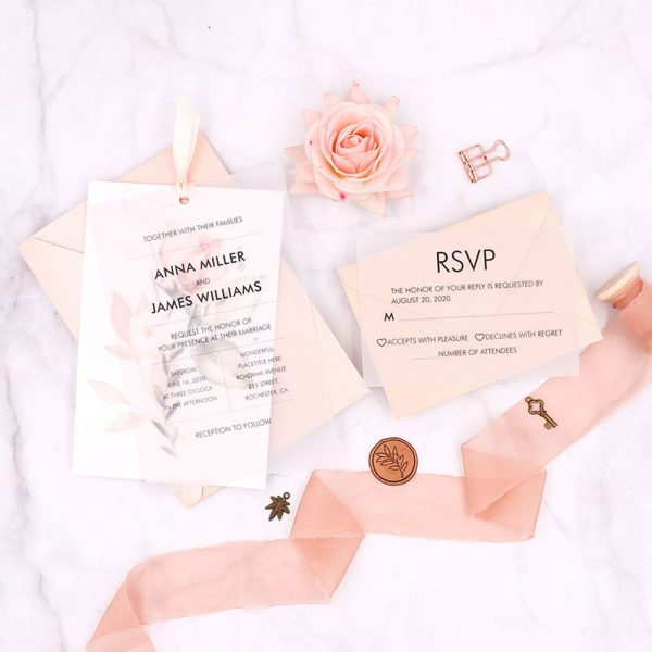 Flame and Yellow Wedding Invites for Spring 2021