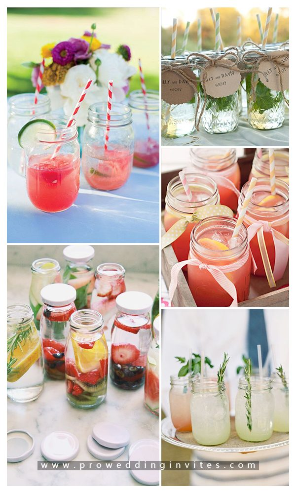 Creative ways to serve your wedding drinks with mason jars