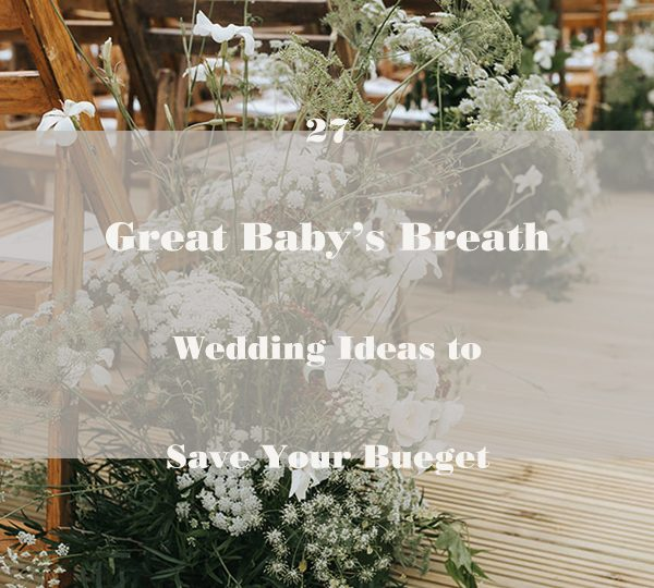 27 Great Baby's Breath Wedding Ideas to Save Your Bueget