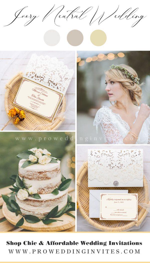 Ivory popular neutral wedding colors