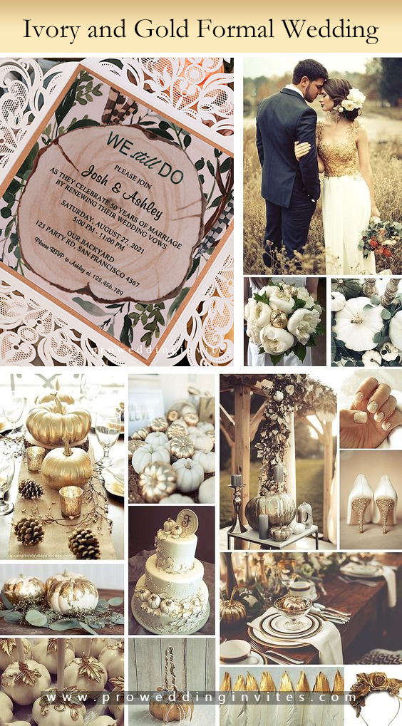 Ivory and Gold Formal wedding