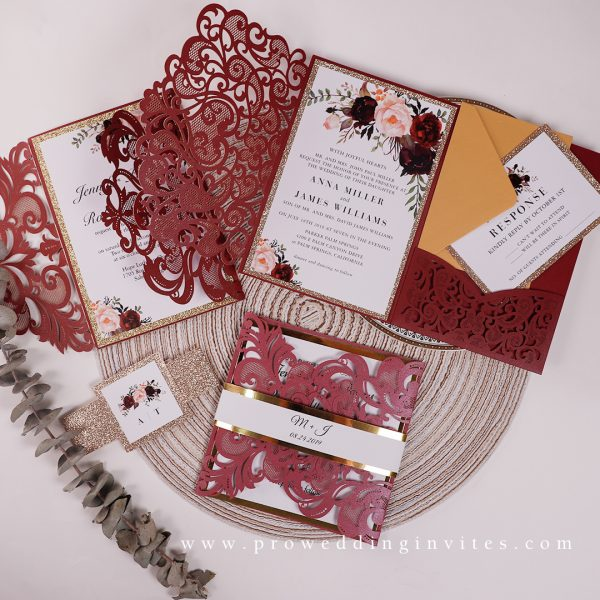 Inspired Old Hollywood Glamour Wedding Black Gold RED colors