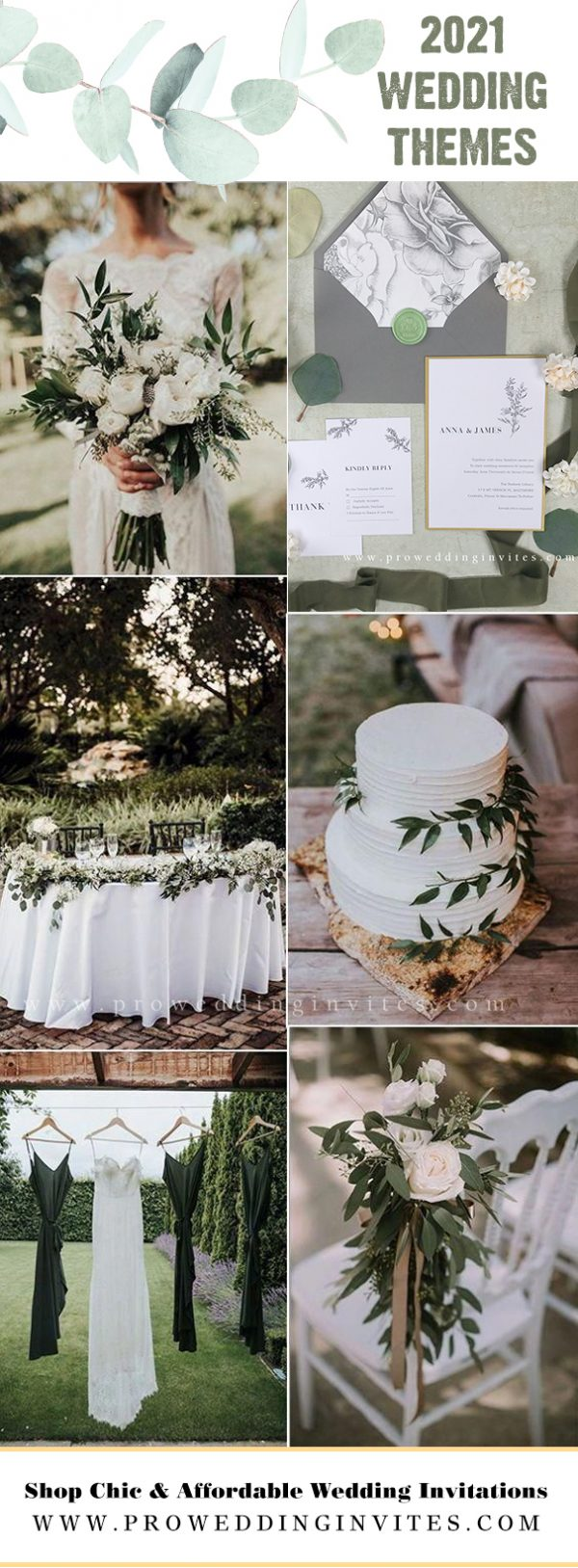 modern greenery wedding themes