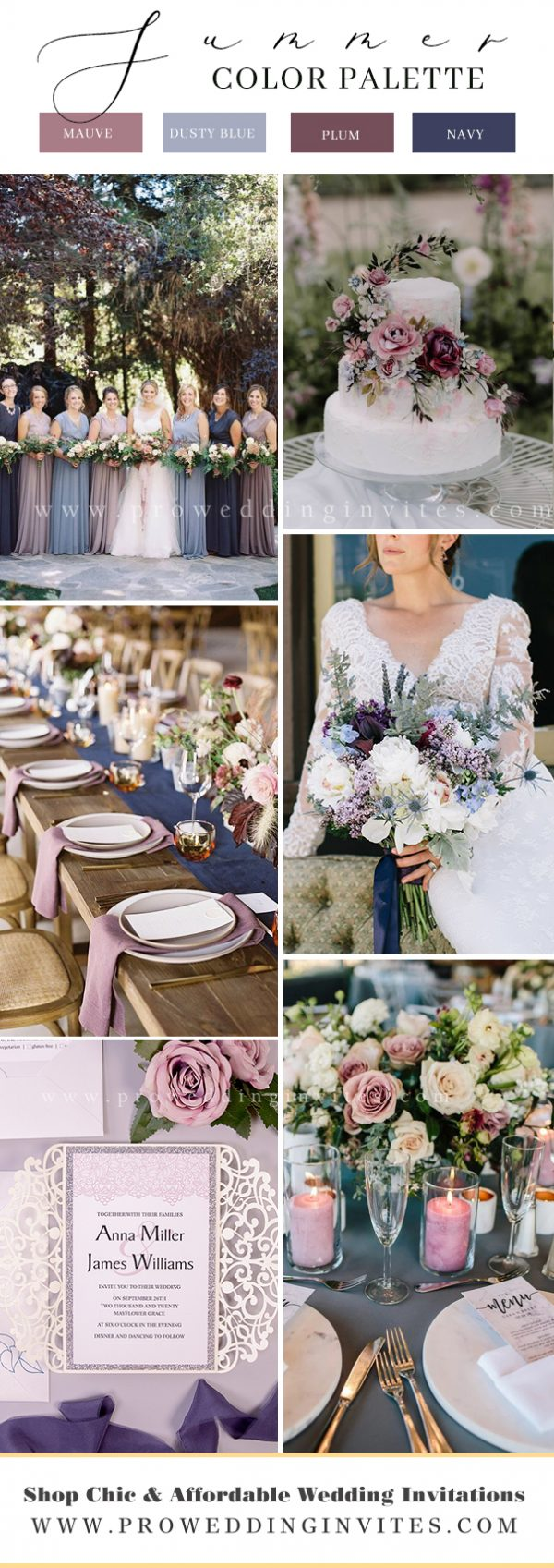 Trendy and Hot Color Combinations for 2021 Summer Weddings
