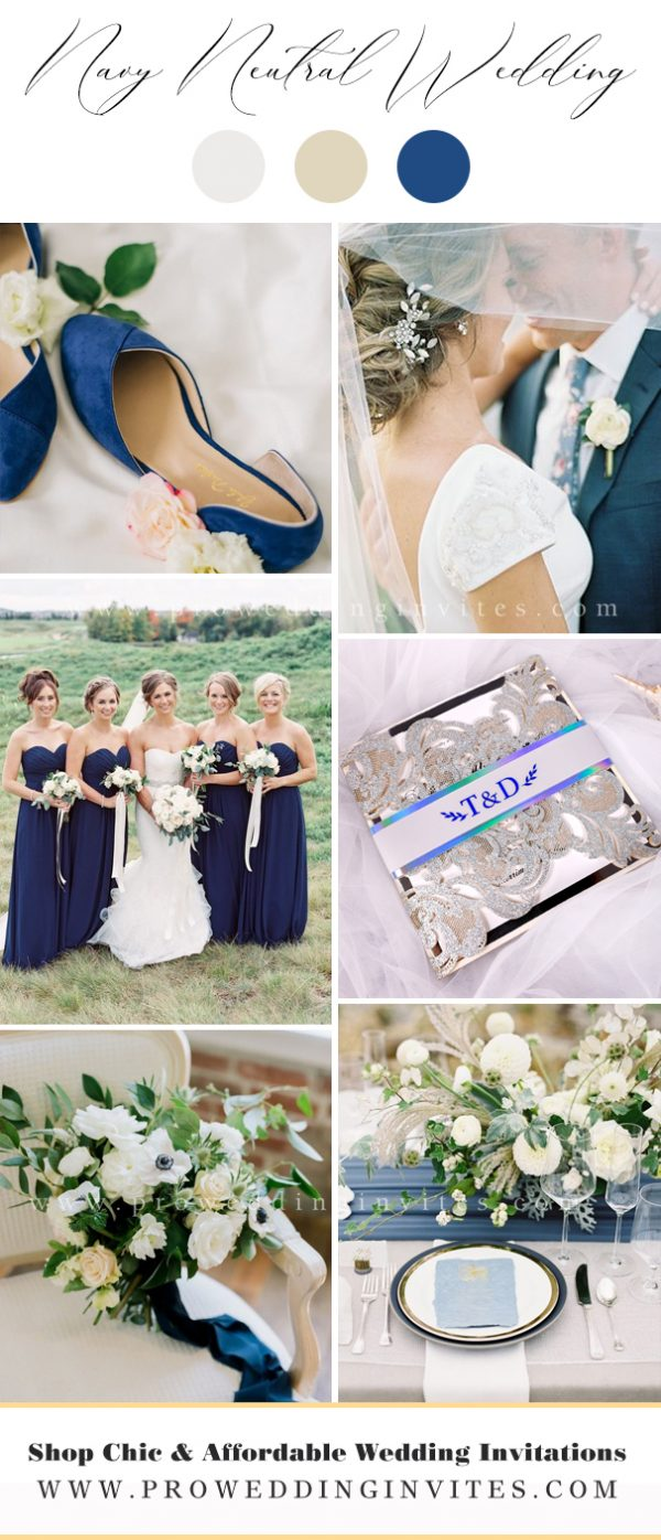 Navy popular neutral wedding colors