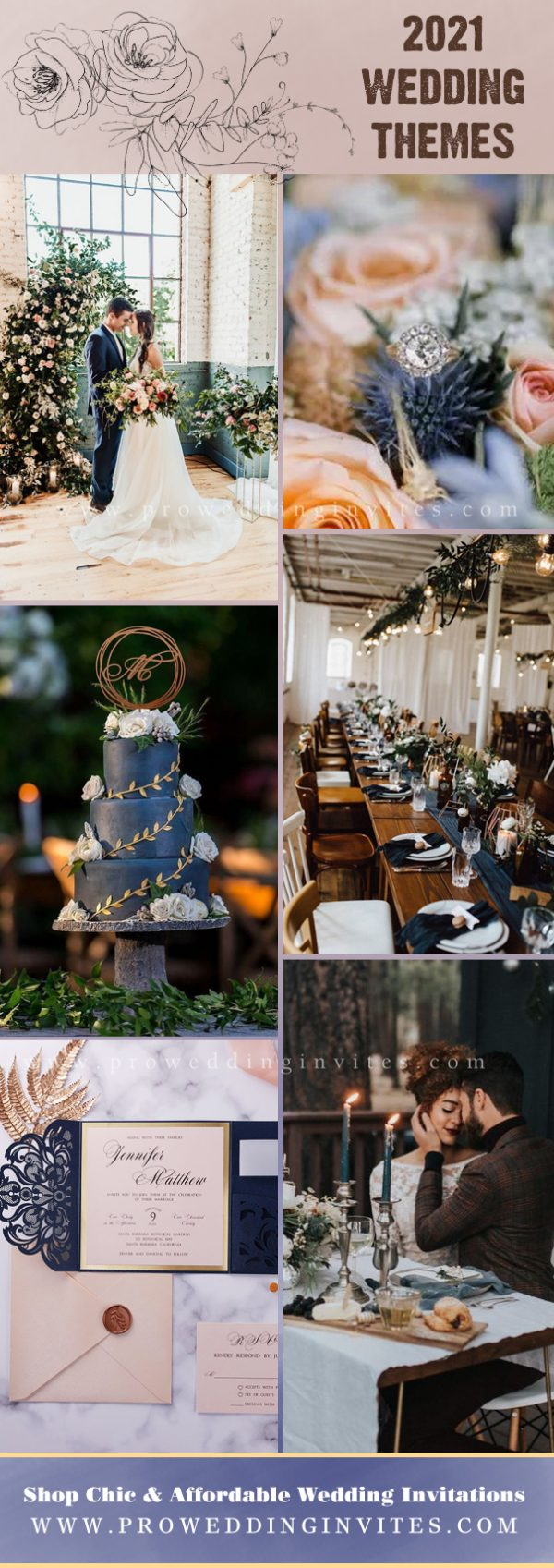 copper wedding themes