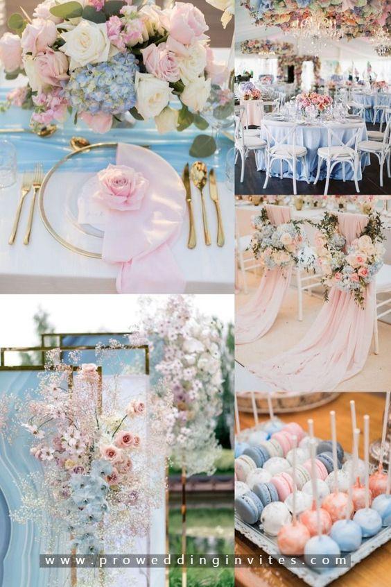 Navy and Pastel Pink Formal wedding
