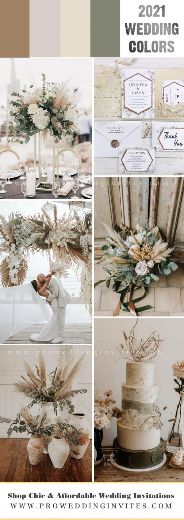 Neutral Earth Tone Bohemian Elopement Wedding