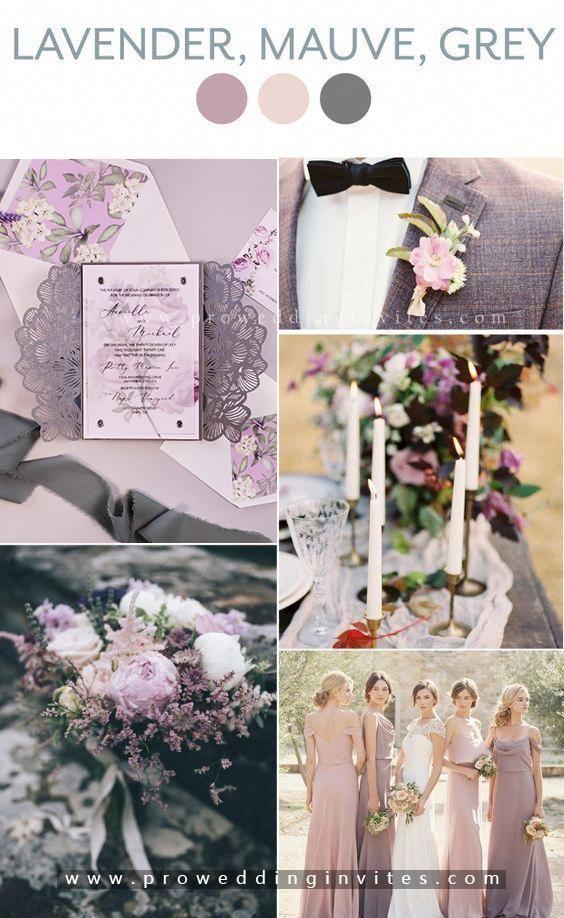 Mauve and Grey Formal wedding