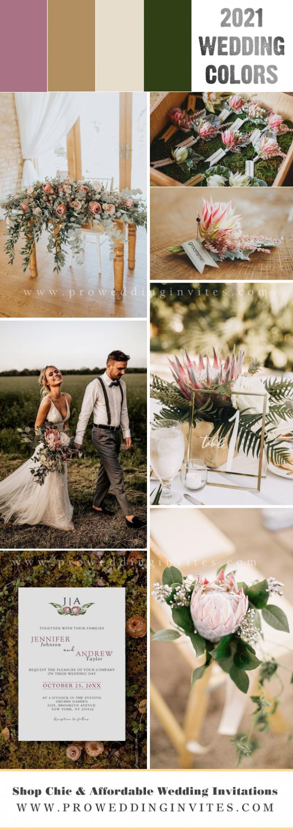 Stunning native floral protea tropical wedding