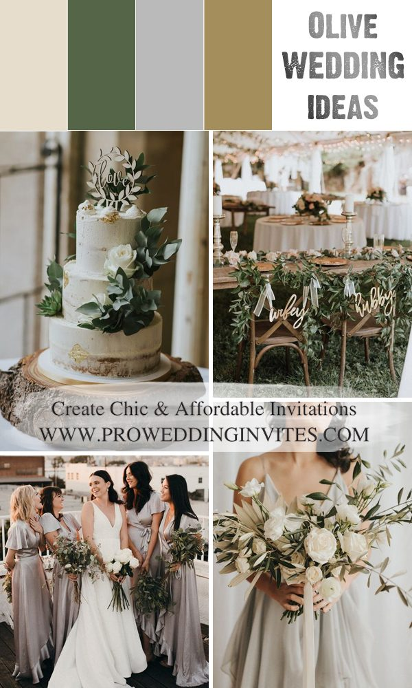 2021 Trendy Organic Inspired Olive Branch Wedding Ideas