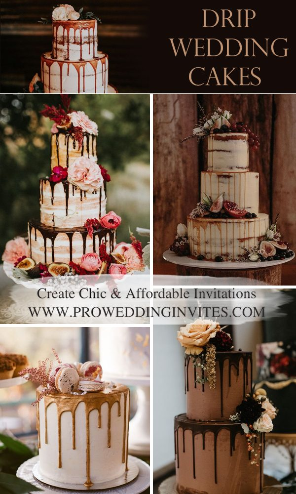 Trendy Drip Wedding Cakes That Make your Dessert Table Stand out