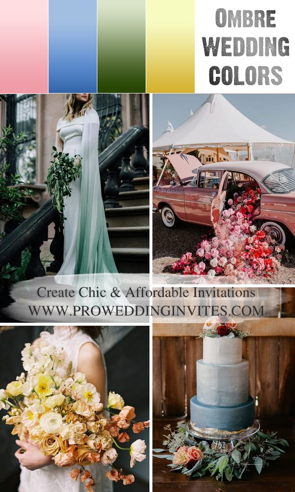8 Ombre Wedding Color Ideas for 2021 Spring