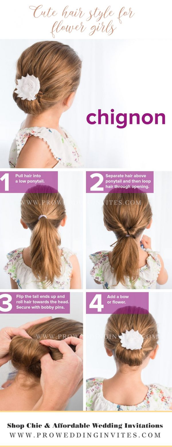 diy Cute hair style for your little flower girls
