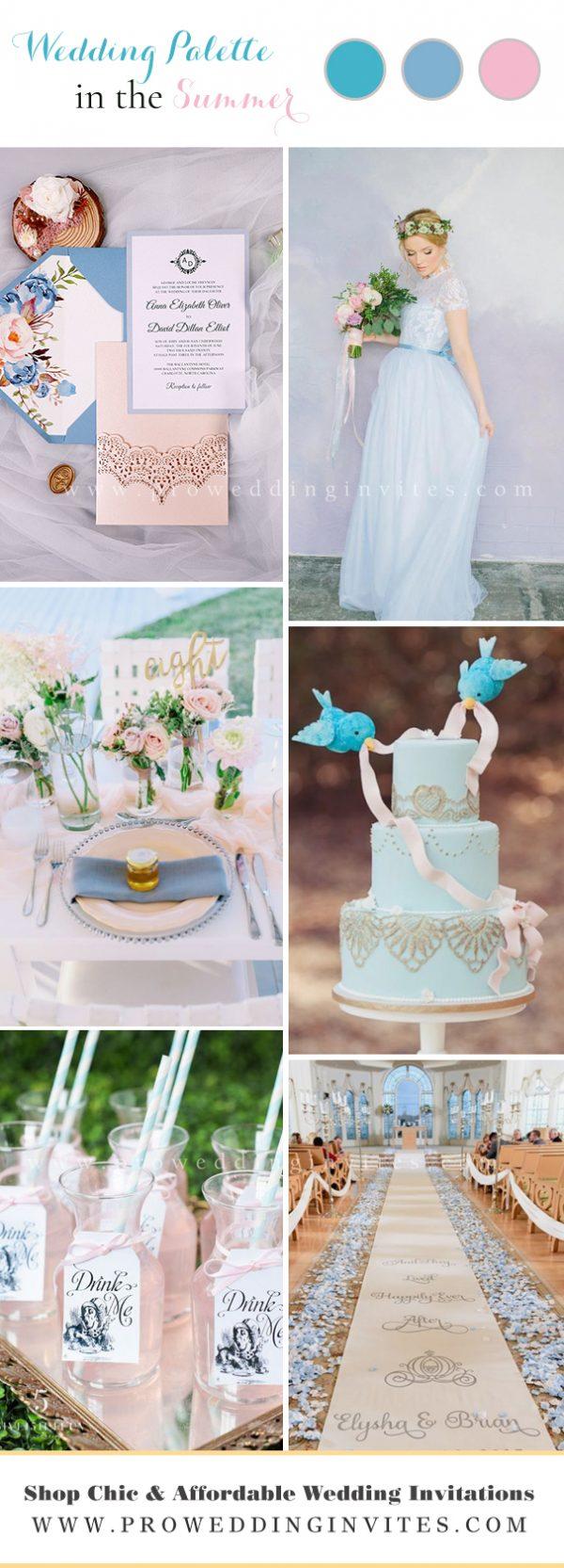 Unexpected EnchantedSummer Wedding Colors: Cinderalla blue, aqua and pink