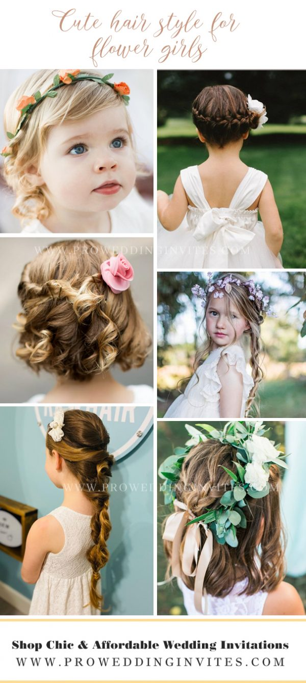 Cute hair style for your little flower girls