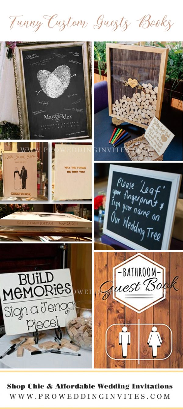 5. Custom guests book photos and their names