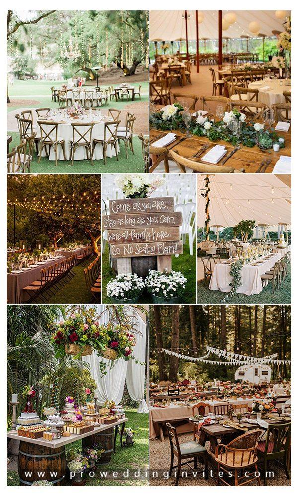 Rustic Chic and Elegant Wedding Decoration Ideas
