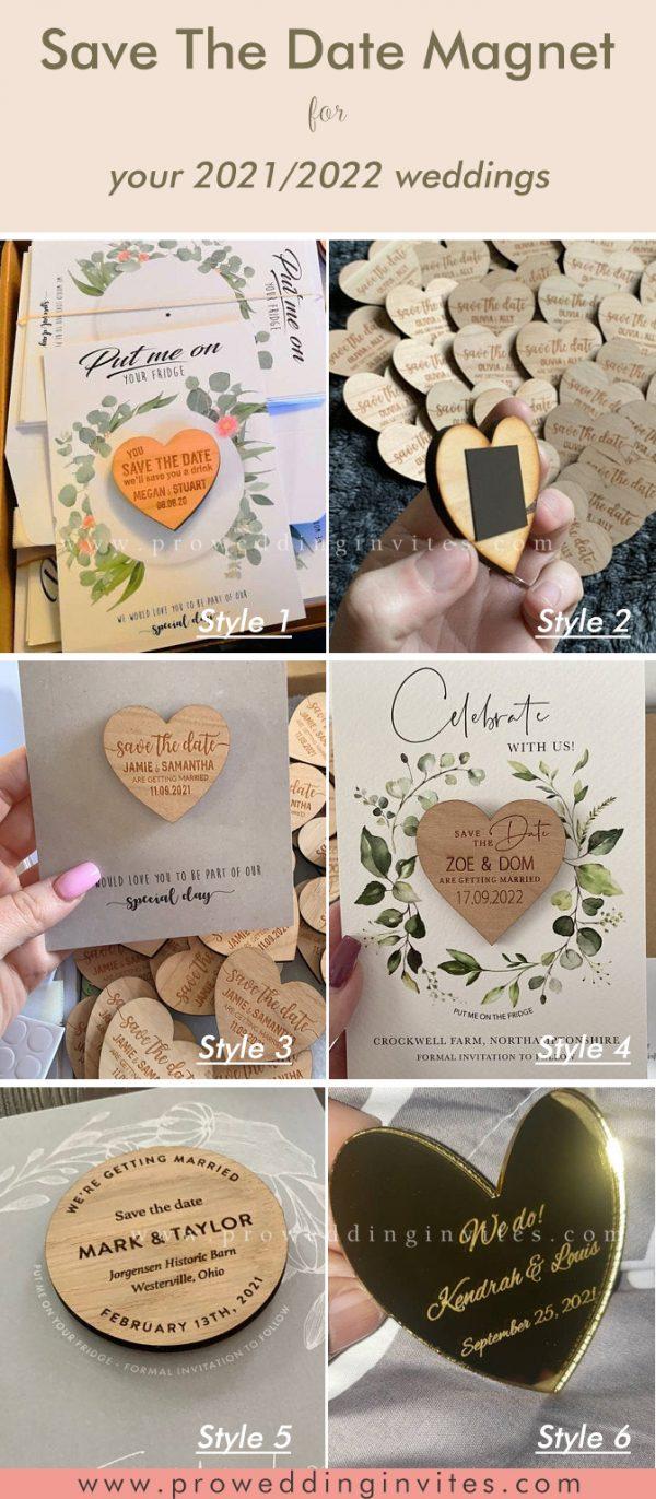 Personalised Custom Save The Date Wedding Magnet