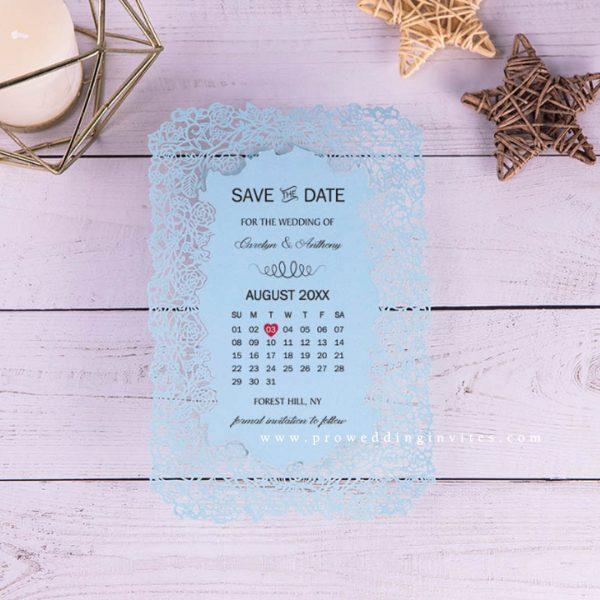 Laser Cut Save The Date Card