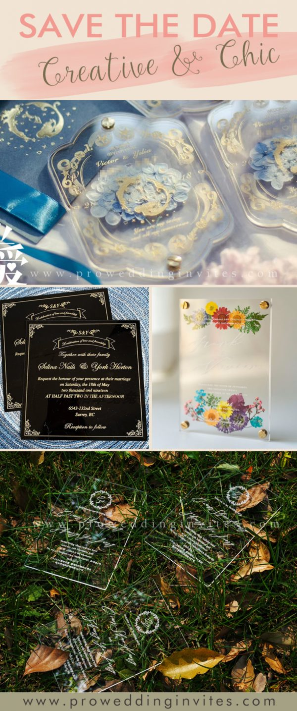 ACRYLIC Personalised Custom Save The Date