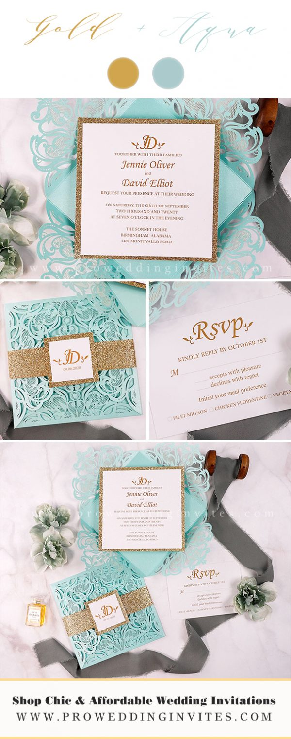Gold + Aqua WEDDING