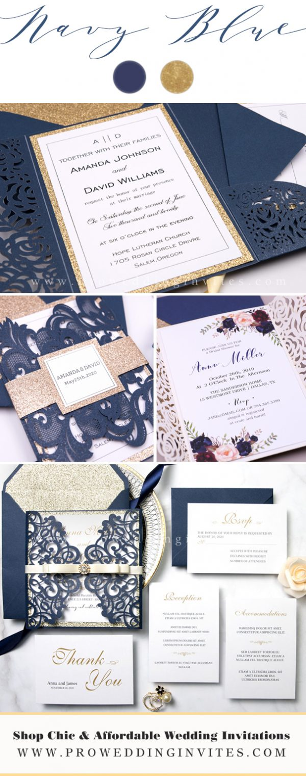 Navy Blue Wedding Color Ideas