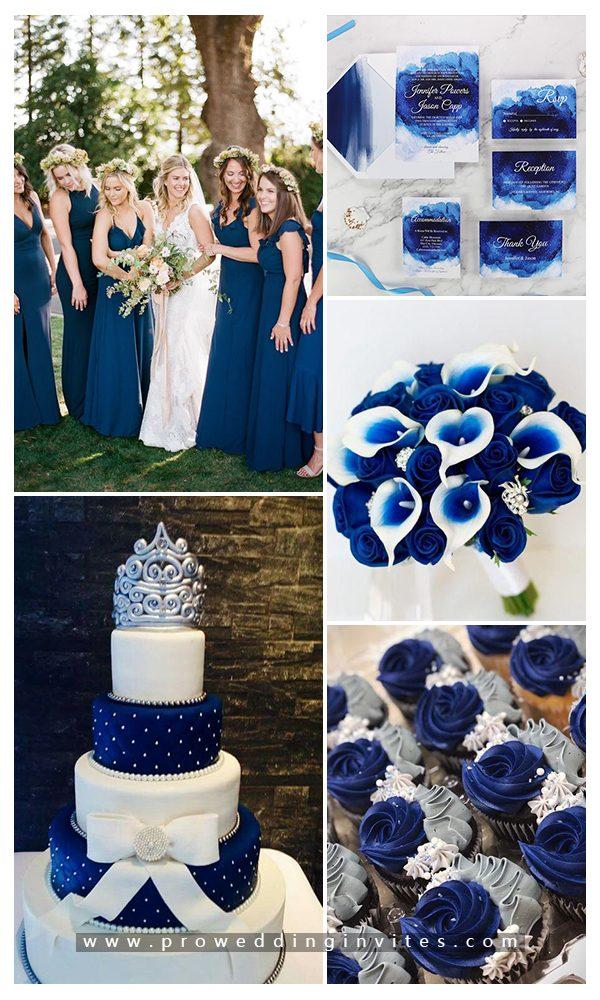 Shades of Blue Chic and Elegant Wedding Decoration Ideas