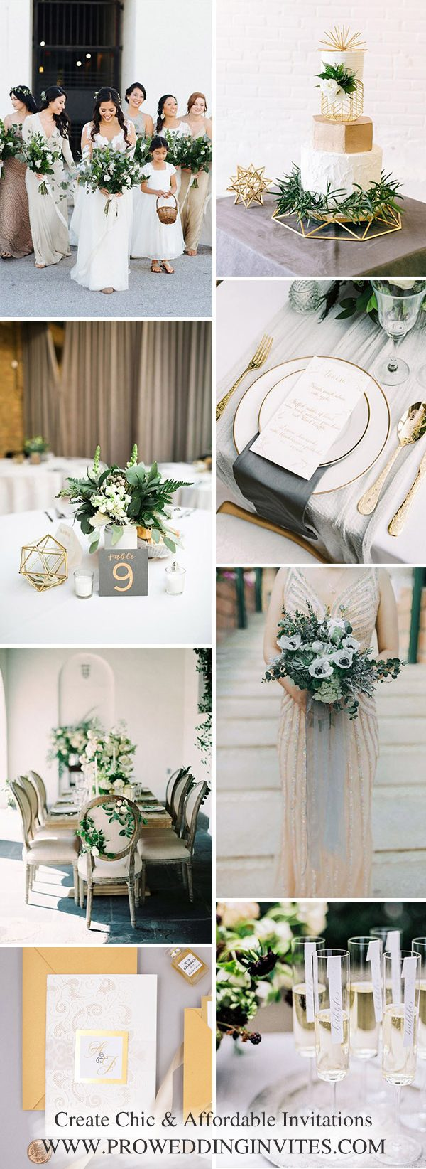 The Best Gold Wedding Colors Combos for 2021: Gold + White