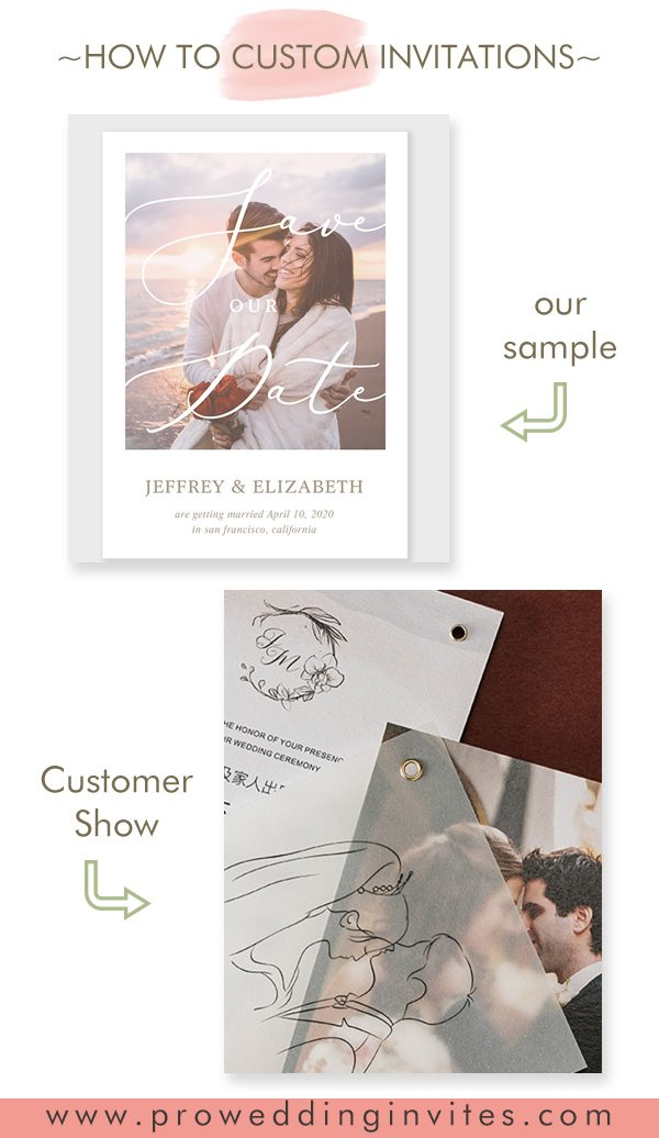 Photo Vellum Overlay Save The Date Cards